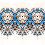 Horizontal lace steampunk ornament, ornamental geometric pattern Royalty Free Stock Photos