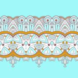 Horizontal lace steampunk ornament, ornamental geometric pattern Stock Images