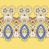 Horizontal lace steampunk ornament, ornamental geometric pattern Royalty Free Stock Photo