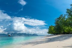 Horizontal landscape is a great place for retirement and relaxat. Ion, Poda island, Thailand Royalty Free Stock Photo
