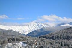 Horizontal winter Mountain view of Winter Park, Colorado. royalty free stock photography