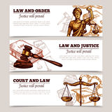 Horizontal Law Banners Royalty Free Stock Images