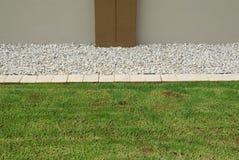 Horizontal lawn border Stock Photo