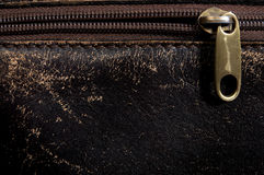 Horizontal leather background and  fastener Stock Photo