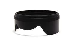 The horizontal lens hood. On white background Royalty Free Stock Photo