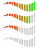 Horizontal level, progress, completion indicators. Steps, phases. Stages, comparison bar elements. - Royalty free vector illustration Stock Images
