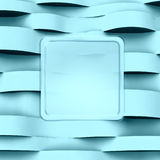 Horizontal light blue wave abstract Stock Image