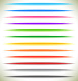 Horizontal light streak effect in several colors. Colorful beams Stock Photography