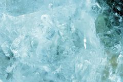 Free Horizontal Lightened Slices Of Blue Marble Quartz Ice Background. Cold Calm Colors Icy Background Ideal For Your Design Stock Photos - 138445503