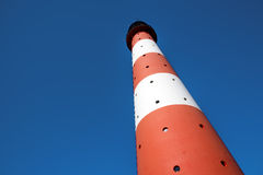 Horizontal Lighthouse Westerhever Royalty Free Stock Photography