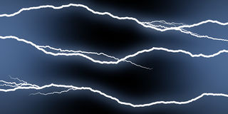Horizontal lightning Stock Photos