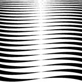 Horizontal lines, stripes - Waving, wavy lines from thick. To thin in sequence. abstract monochrome, grayscale geometric pattern, texture. - Royalty free vector Royalty Free Stock Image