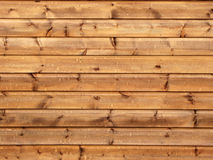Horizontal lines of timber wall Stock Image