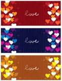 Horizontal love banners Royalty Free Stock Photo
