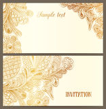 Horizontal luxury invitation Stock Photography