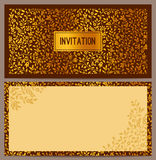 Horizontal luxury invitation Royalty Free Stock Images