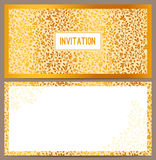Horizontal luxury invitation Royalty Free Stock Image