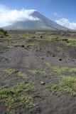 Horizontal luzon Philippines de volcan de mayon de support photo stock