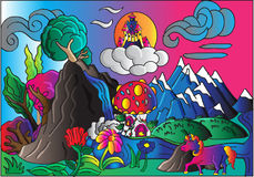 Horizontal magique illustration stock