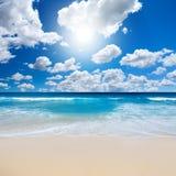 Horizontal magnifique de plage Image stock