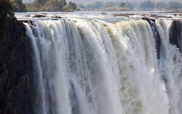 Horizontal main gorge in victoria falls Stock Photo
