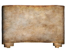 Horizontal manuscript 2. A horizontal manuscript, rough roll of parchment paper with dirty edges background texture vector illustration