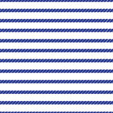 Horizontal marine rope striped seamless vector pattern Royalty Free Stock Image