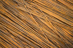 Horizontal MCU of semi-rusty steel bars stacked in a diagonal position Stock Images