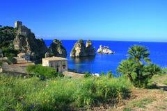 Horizontal, Mediterraneo bleu Images libres de droits
