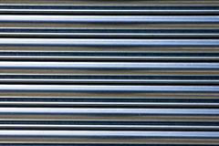 Horizontal metallic shutters. Detail up close Royalty Free Stock Images