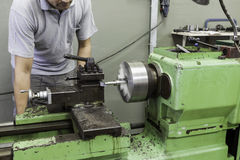 Horizontal milling machine Royalty Free Stock Photos