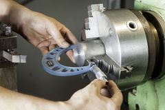 Horizontal milling machine royalty free stock images