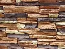 It is horizontal modern brick wall for pattern and background royalty free stock photos