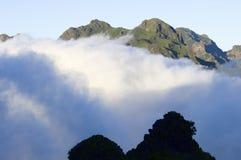 Horizontal montagneux image libre de droits