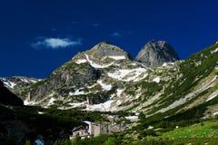Horizontal montagneux avec la nature écologique verte image stock
