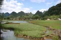 Horizontal montagneux de Cao Bang photographie stock