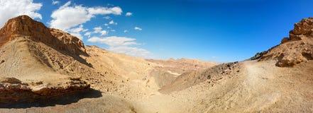 Horizontal montagneux de désert images libres de droits