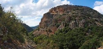 Horizontal montagneux méditerranéen images stock