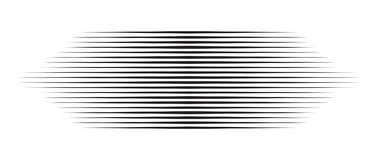 Horizontal motion speed lines for comic book.  royalty free illustration