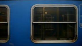 Horizontal movement from train window, windows stock video