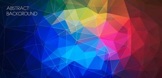 Horizontal multicolor polygonal banner. Vector Background Royalty Free Stock Photos