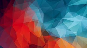 Horizontal multicolor triangle Vector Background Stock Images