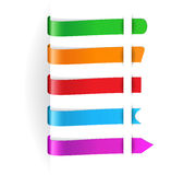 Horizontal multicolored paper tags for any items Stock Images