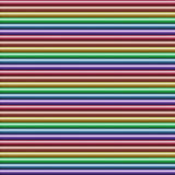 Horizontal multicolored tube background, seamlessly tileable Stock Images