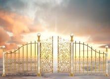 Horizontal nacré de portes Image libre de droits