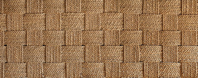 Horizontal natural fibers weaving background Royalty Free Stock Image