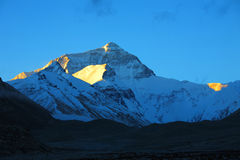 Horizontal, nature, Chine, Thibet, Everest Photographie stock libre de droits