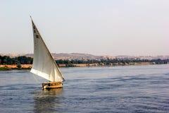 Horizontal nile boat Royalty Free Stock Image
