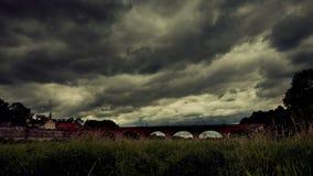 Horizontal nuageux Images libres de droits