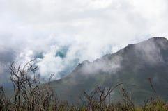 Horizontal nuageux de montagne Photo libre de droits